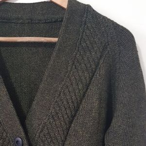 Hand made knitted wool cardigan Large Nanna